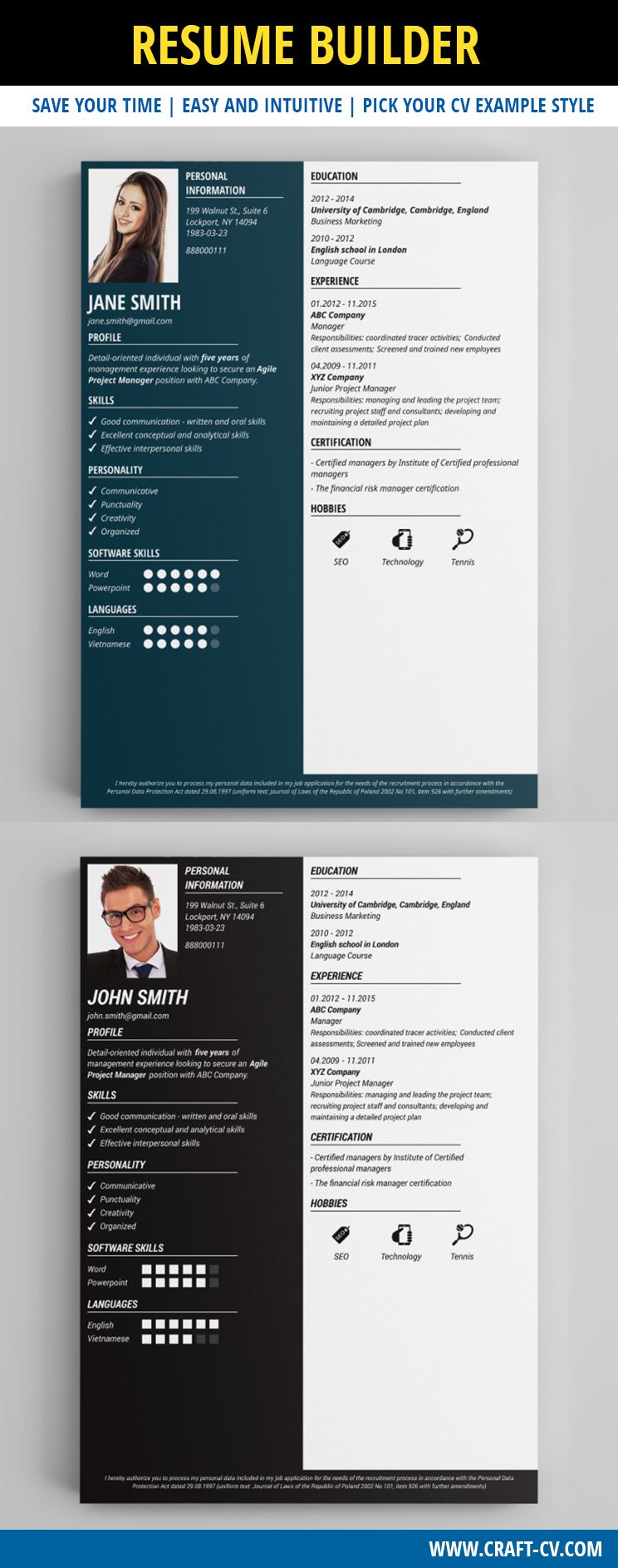CV Sample [Download] Creative cv template, Resume