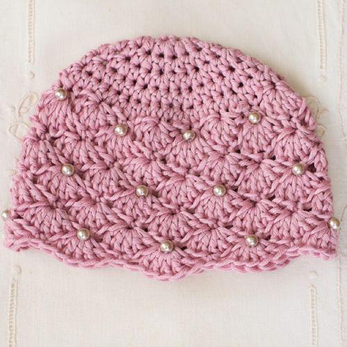 Vintage Pearl Baby Hat - Free Pattern | crochet | Pinterest | Häkeln
