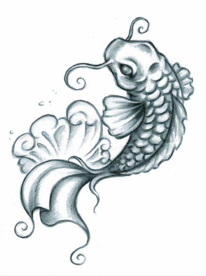 b35fb3d231272 Beautiful Koi fish tattoo | Art ✏ | Koi tattoo design, Koi fish ...