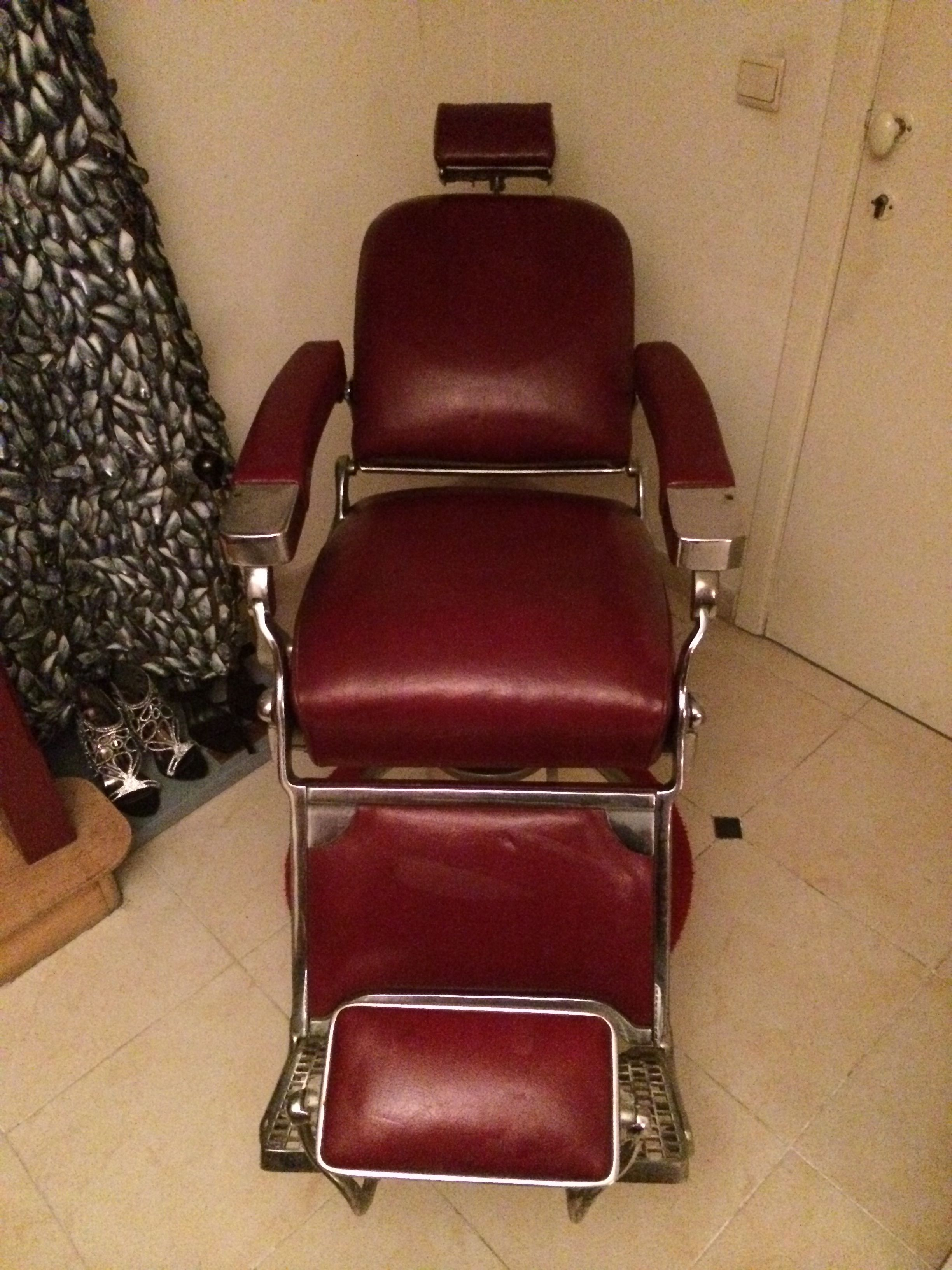 Theo Kochs Barber Chair From 1956 Barber Chair, Barber Shop, Barbershop