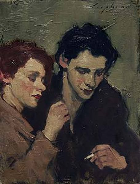 malcolm t liepke fixing his collar 12 x 9 inches