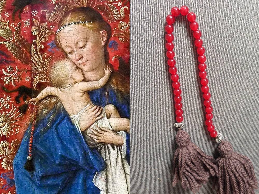 Paternoster Rosenkranz Madonna Am Brunnen Jan Van Eyck 1439 Konigliches Museum Der Schonen Kunste Antwerpen Nachbildun Jan Van Eyck Rosenkranz Madonna