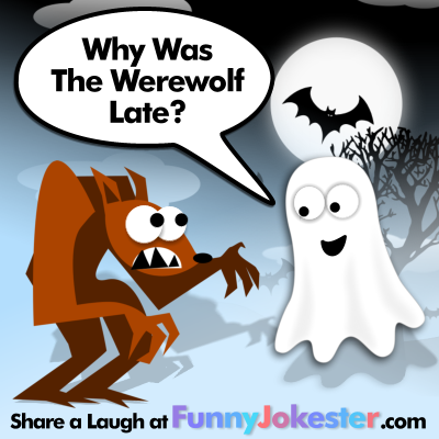 Werewolf Joke! Funny Halloween Jokes! For the commuters