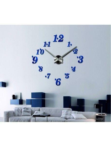 Die Uhr im Wohnzimmer - FELIPE Artikel-Nr 12S004-RAL5002-S-COLOR - schöne wanduhren wohnzimmer