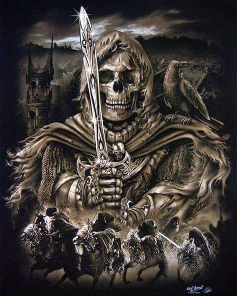 Four Horsemen of the apocalypse | SKELETONS, SKULLS, AND THE