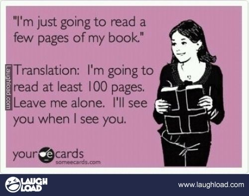 @Ashli Fox LMAO sorry @Dustin McLean I love you but you know better then to disturb me when I'm reading a good book!