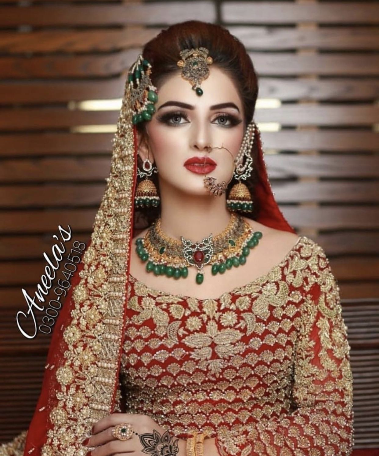 pin by maha rind on quotes   pakistani bridal makeup, red