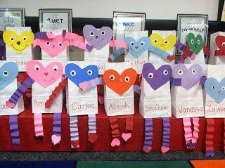 Valentine Bags Kindergarten Valentines Valentines School