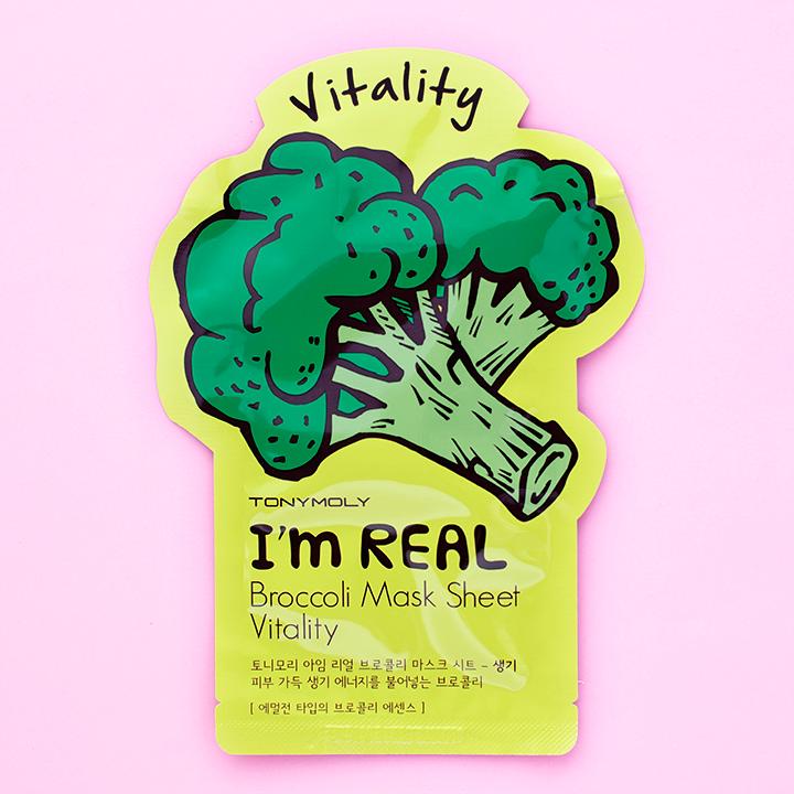 Mascarilla Tony Moly/I'm RealBrócoli Facial sheet mask