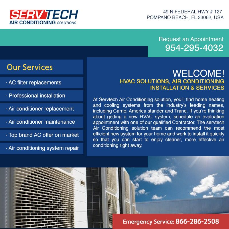Servtech Air Conditioning Solutions Schedule An Appointment Https
