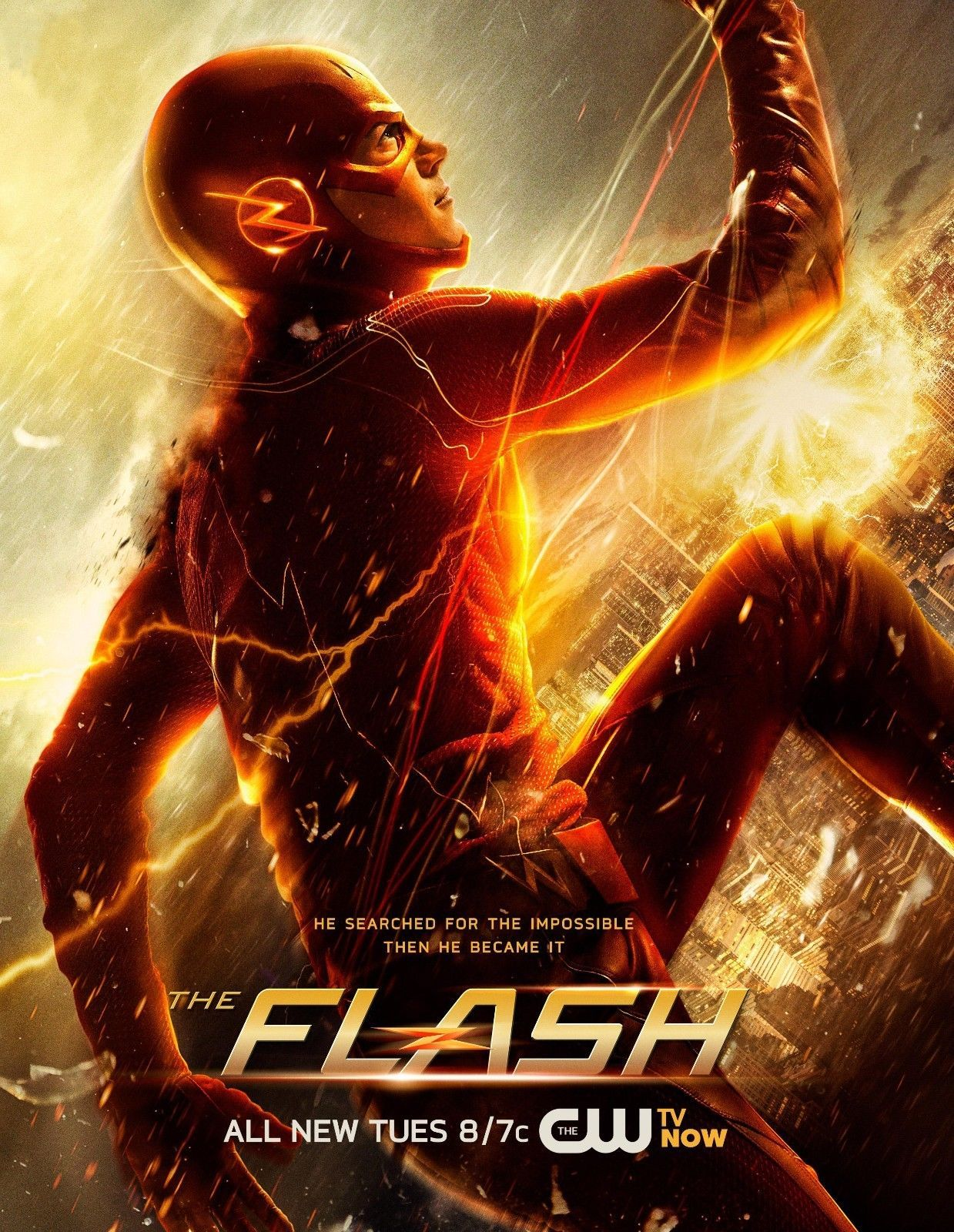 The Flash Cw Tv Poster 24x36 Grant Gustin Candice Patton New The Flash Season Flash Tv Series The Flash Poster