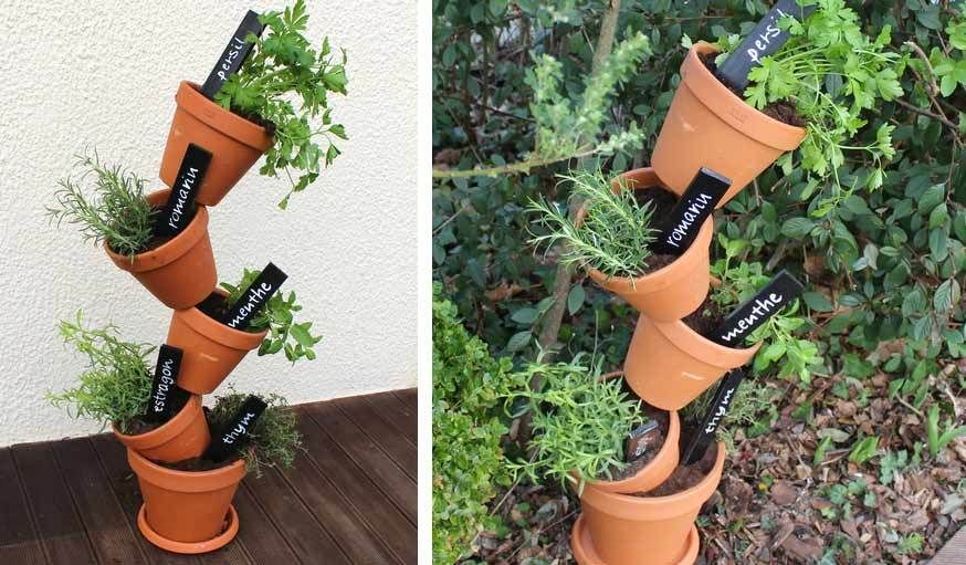 Tuto pour fabriquer une jardini re verticale potager de - Decoration de jardin a fabriquer ...
