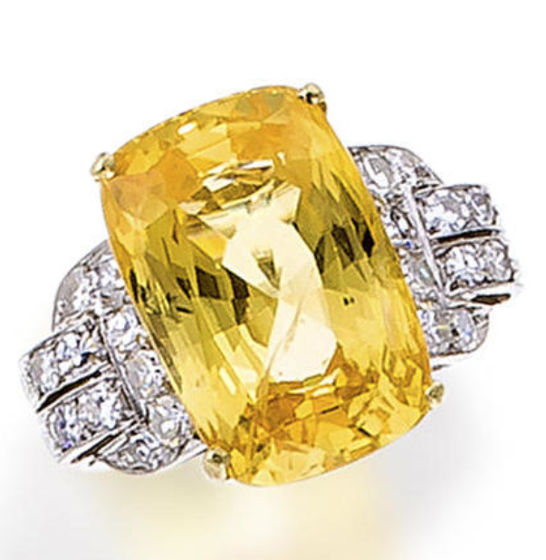 Bonhams A Yellow Sapphire And Diamond Ring Diamond Jewelry Gems Jewelry
