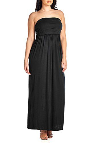Beachcoco Womens Plus Size fortable Maxi Tube Dress 3XL PLUS