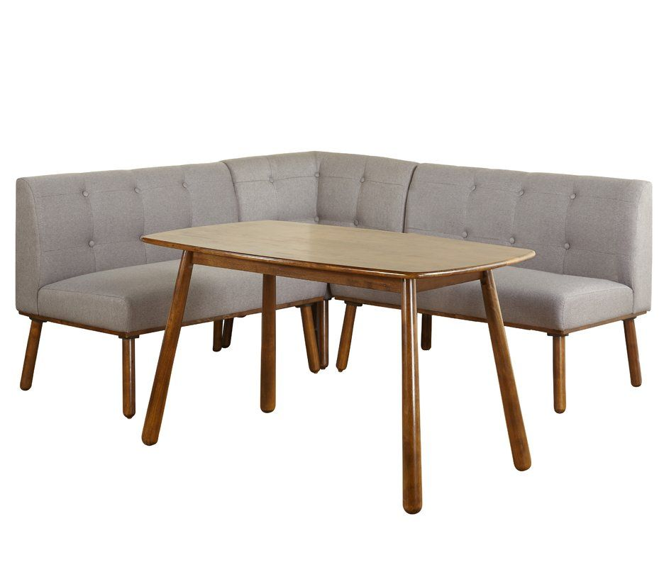 Elegant Breakfast Corner Nook Table Set