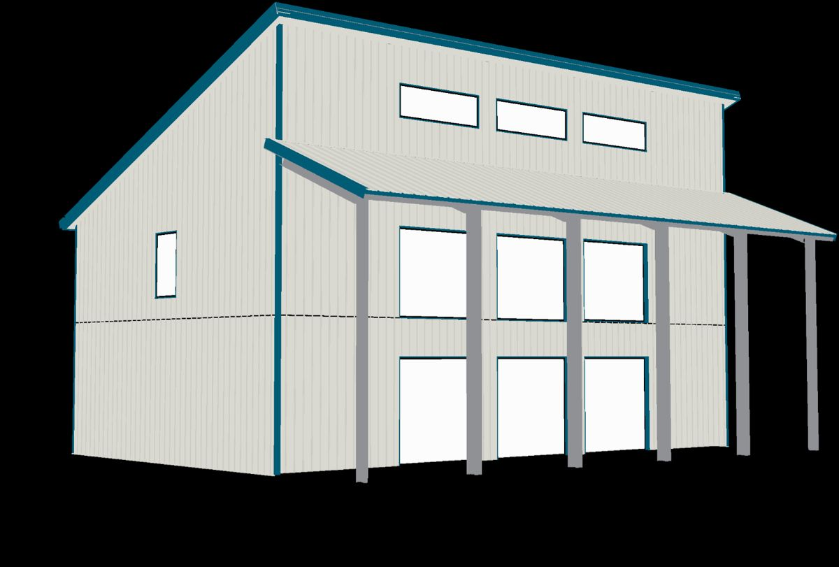 Steel Home Contemporary Shell Kit 2 Floors Single Slope Roof Ebay Steel House Roof Architecture Roofing
