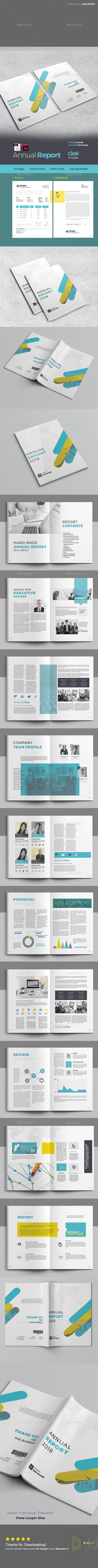 Annual Report Magazines Print Templates