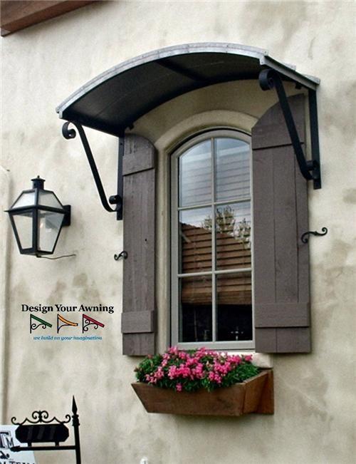 The Metal Eyebrow Awning Exterior Entrance Window Awnings Door