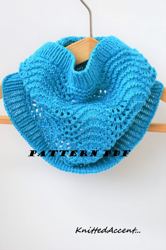 Cowl Pattern PDF Knit Cowl Handmade Cowl Pattern by KnittedAccent ...