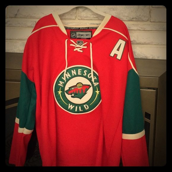 outlet store 13f48 19144 Zach Parise Jersey Minnesota Wild Authentic MN Wild Reebok ...