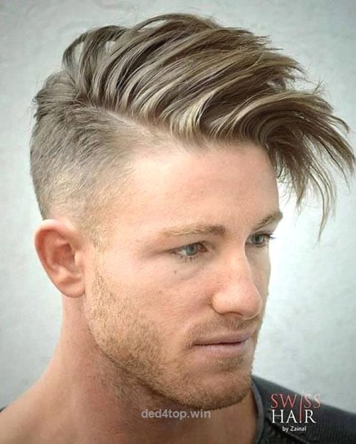 Quiff Hairstyle Endearing Fade With Textured Quiff  Hairstyles For Men With Receding