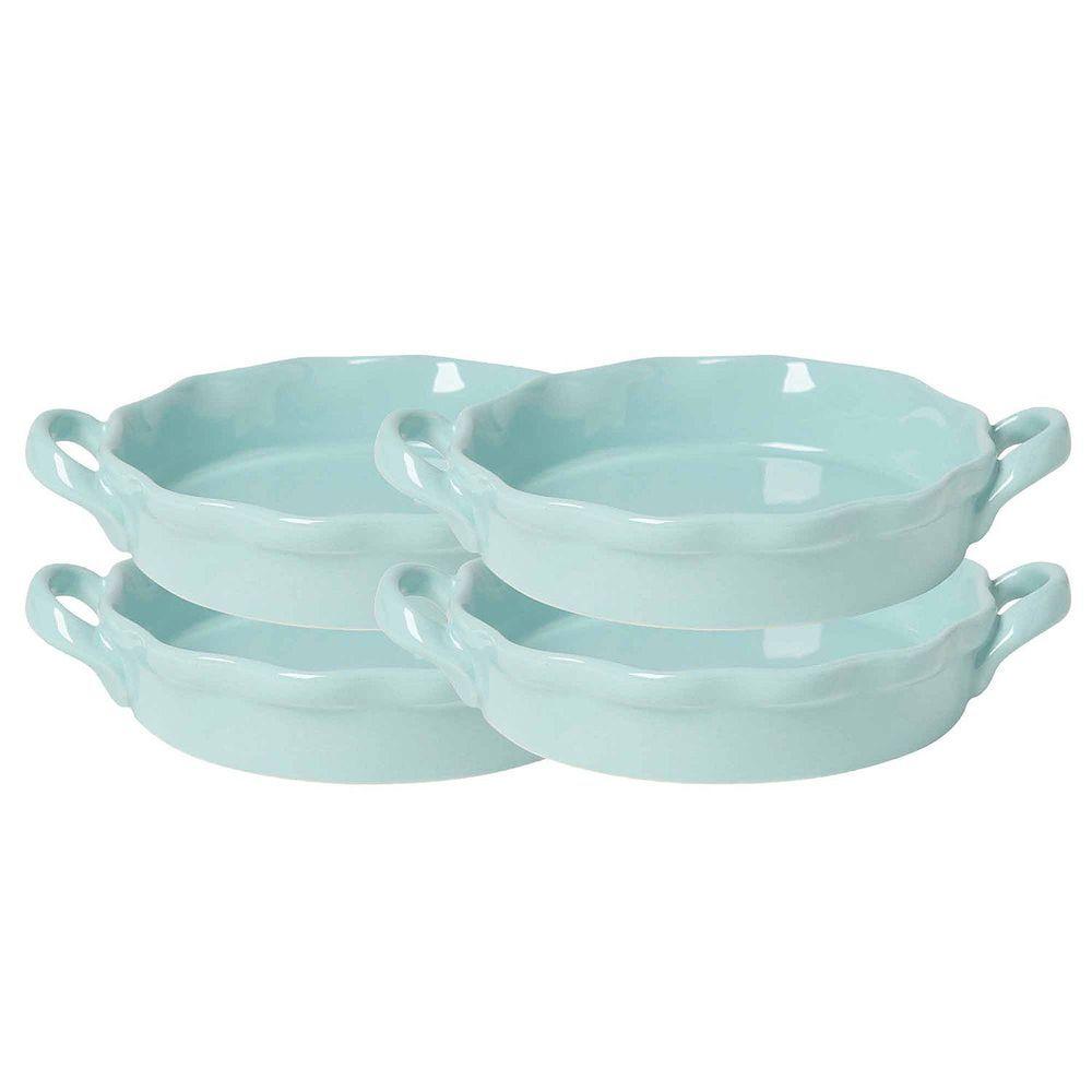 Set Creme Brulee Ramekins 4 5 12 Oz Baking Blue Stoneware Custard New 4 Set Cremebulee Creme Brulee Ramekins Ramekins Ceramic Bakeware