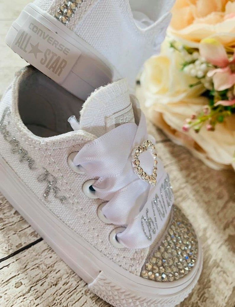 Converse wedding shoes, Bling shoes