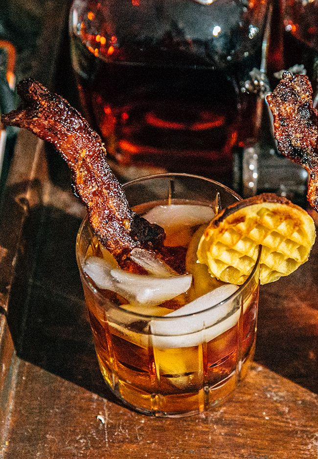 the bourbon brunch i4oz bourbon whiskey 4mml pure maple syrup 2oz