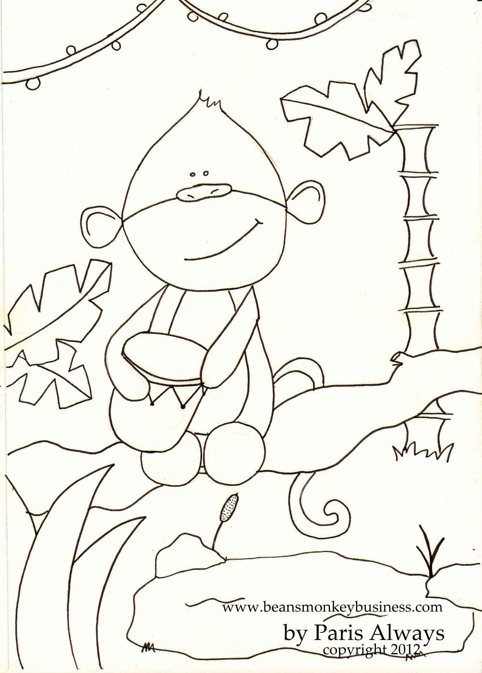 Paris did a Coloring Page for Bean and kids to color and use for our ...