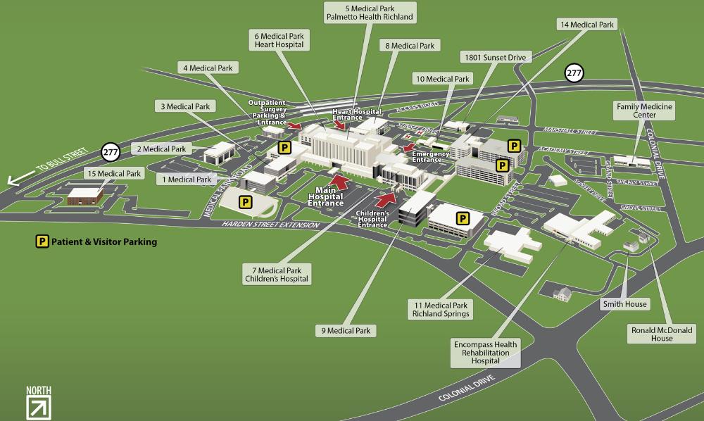 Richland Campus And Floor Plan Maps Prisma Health Midlands In 2020 Floor Plans Campus Richland