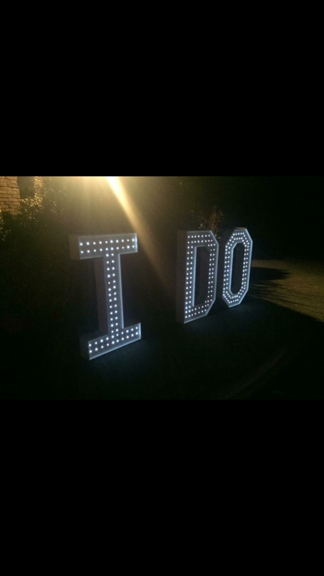 Just say I DO With a giant set of 4ft letters love ido