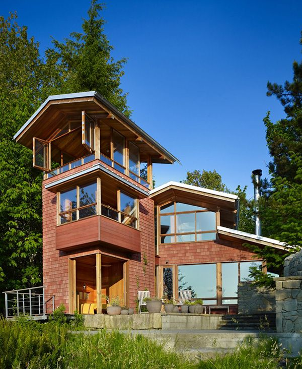 Three Homes With A Contemporary Twist On Rustic Design: Lakefront Cottage Design Idea: Observation Loft
