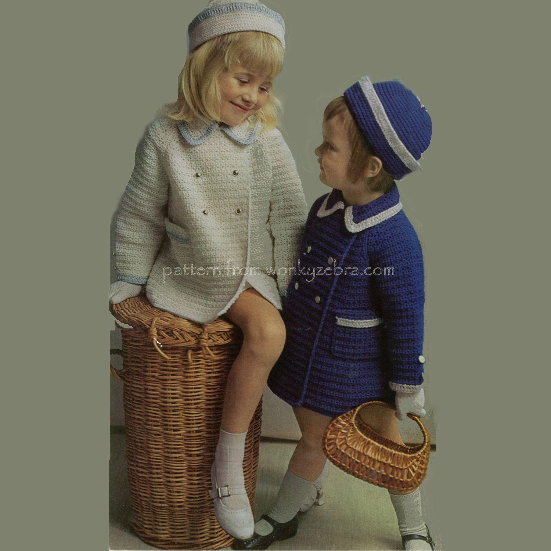 Abrigo y sombrero PDF B043 Vintage patrón de por WonkyZebraBaby