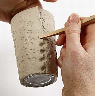 Craft & Creativity: Vases of Self-hardening Clay #slabpottery