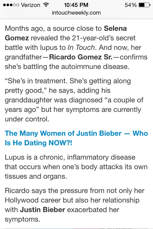 Selena Gomez is suffering from lupus repost if you care