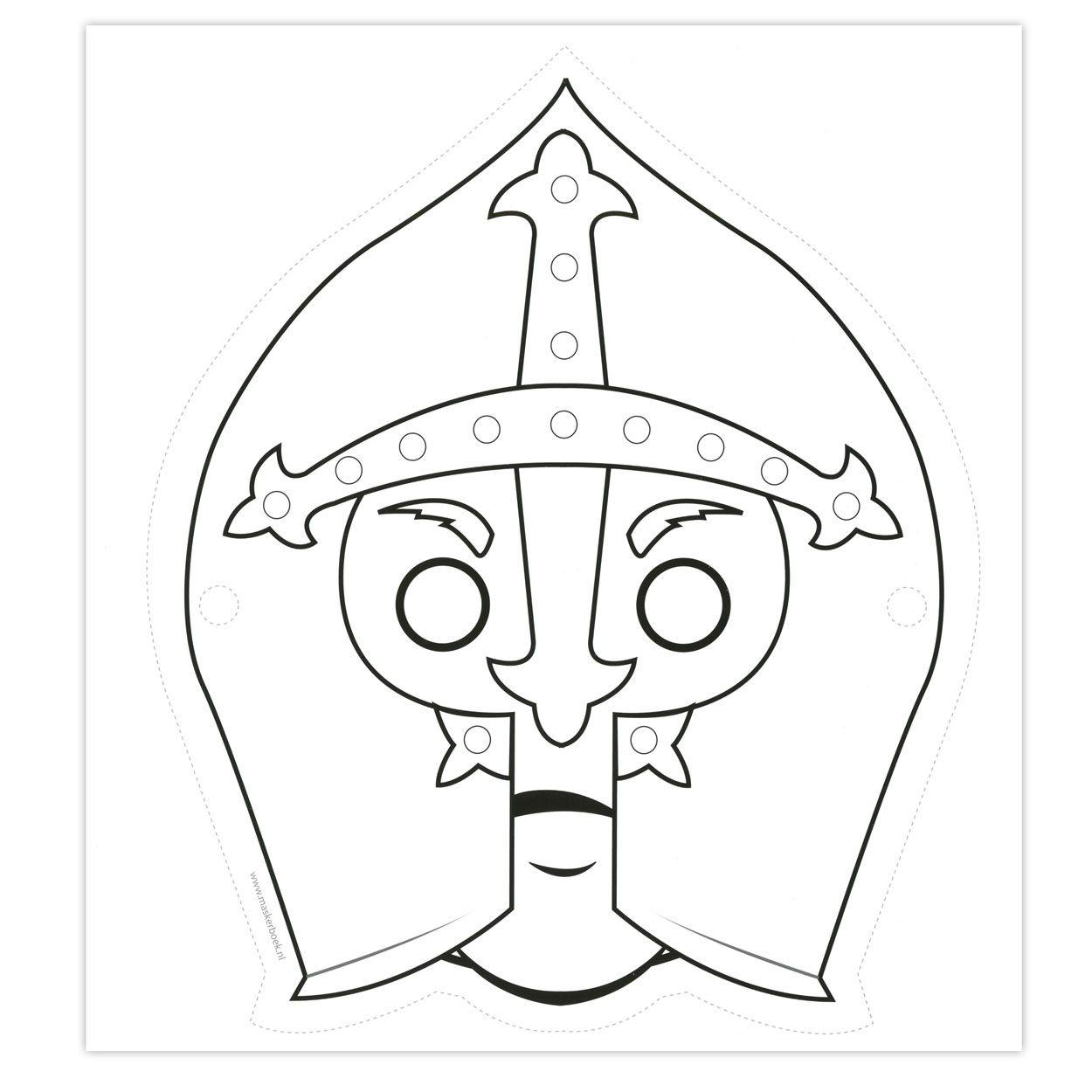 Maskers Ridders Ridders Kasteel Knutselen Maskers