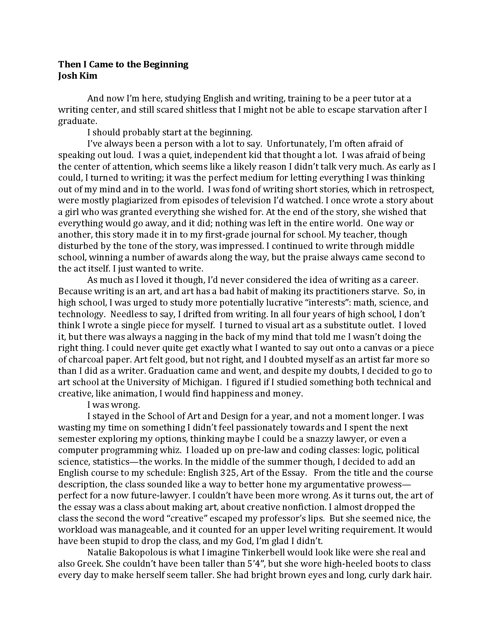 All About Myself Essays In English In Written