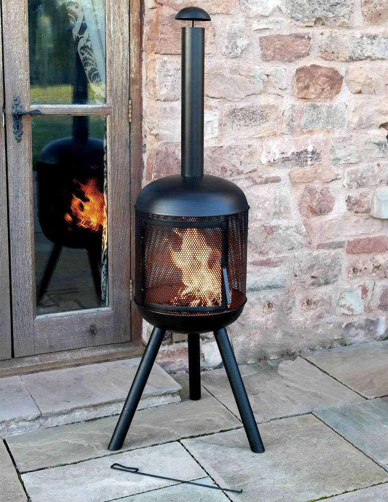 Extra Large Living Room Wall Art: Extra Large Garden Chimenea Patio Fire Pit Heat Party