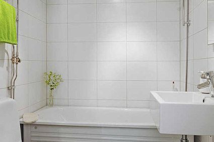 white tile bathroom walls - google search | bathroom | pinterest