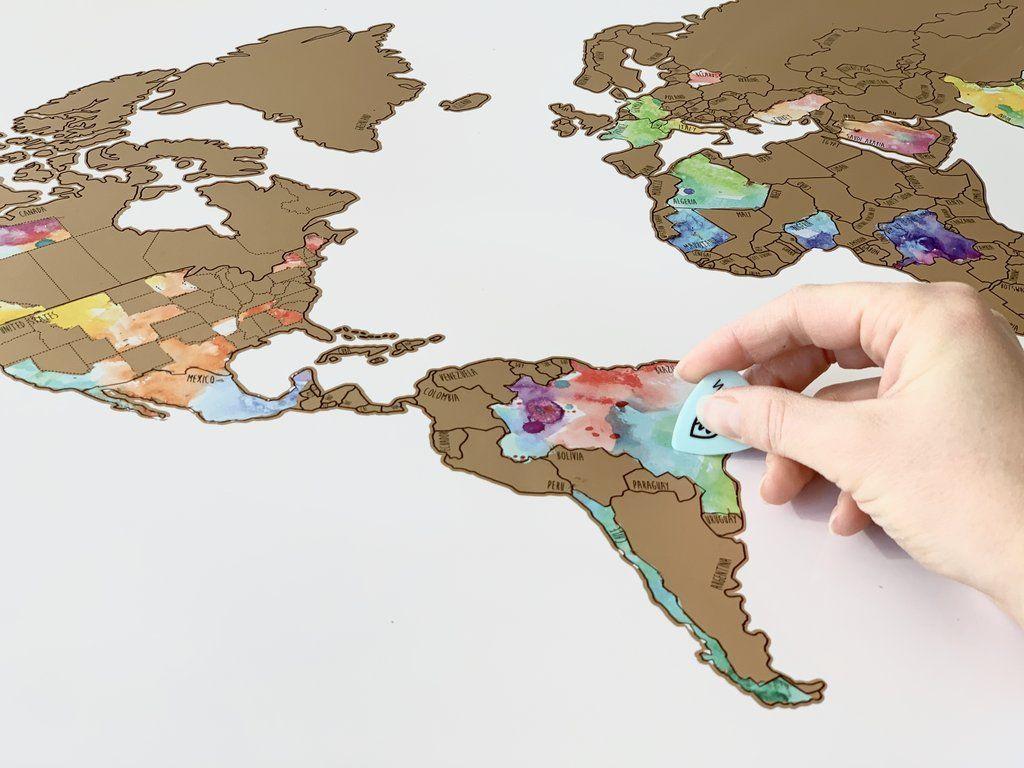 Globe Trotter Gold World Map