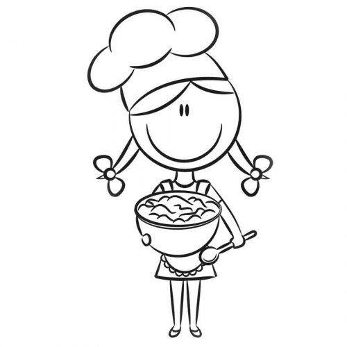 dibujos de niños cocinando para colorear - Buscar con Google