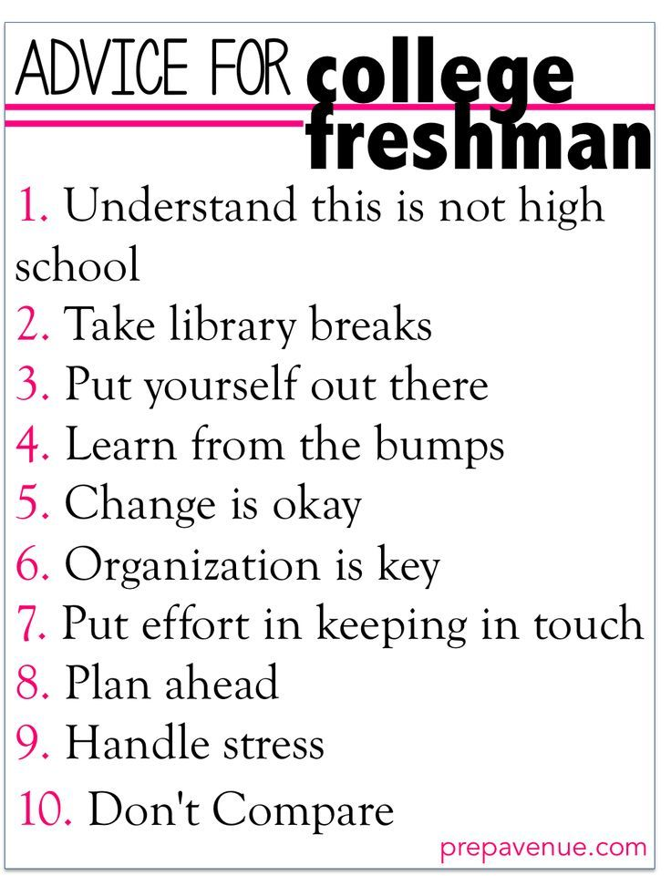 Advice For College Freshman College Life Tips Pinterest