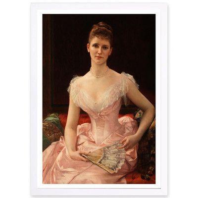"Astoria Grand Olivia Peyton 1887 Framed Painting Print Size: 45"" H x 30"" W"