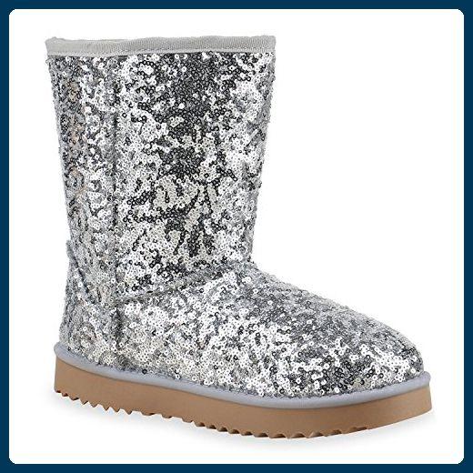 Gefüttert Damen Stiefel Winter Bequeme Schlupfstiefel Boots 08OPknw