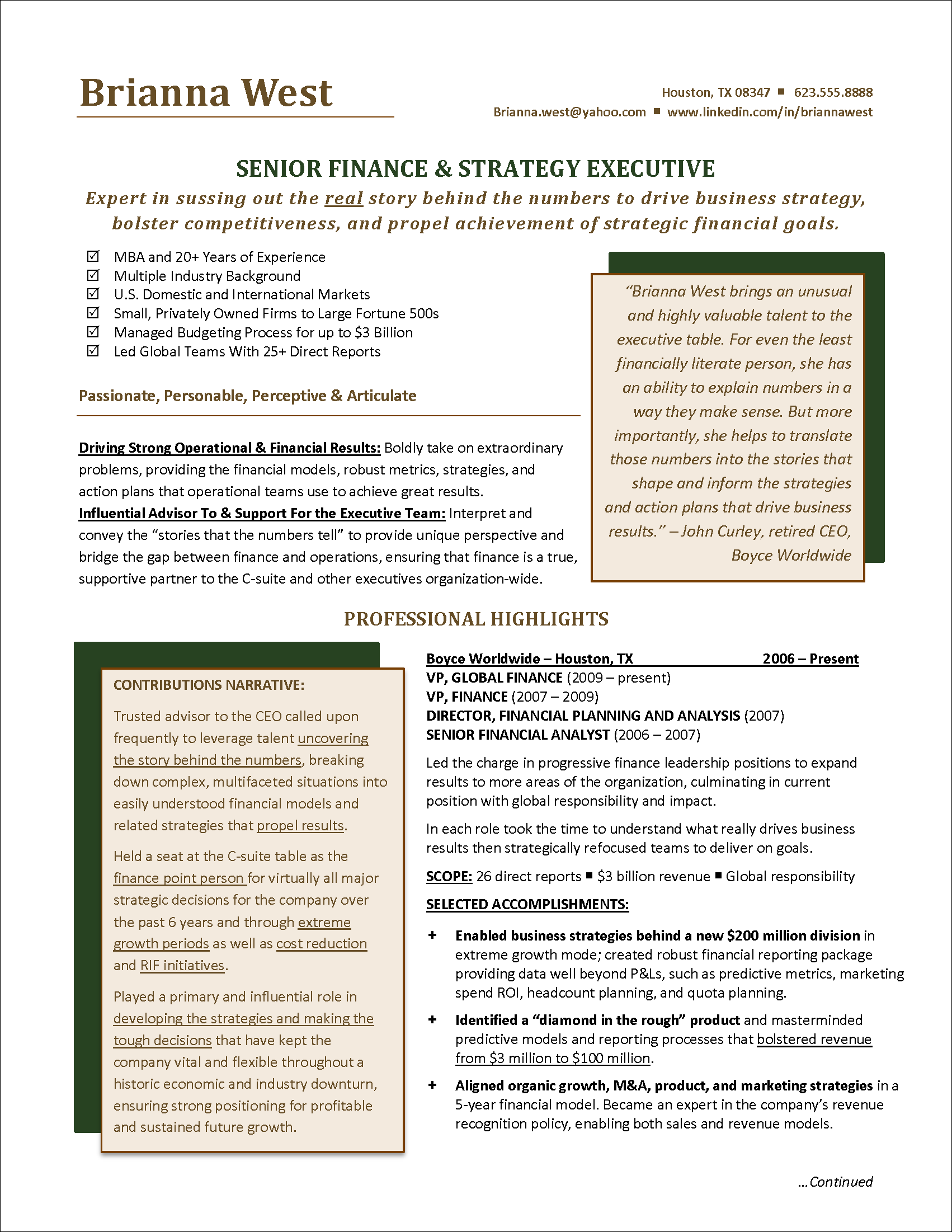 resume Resume Finance Director finance manager resume example examples pinterest example