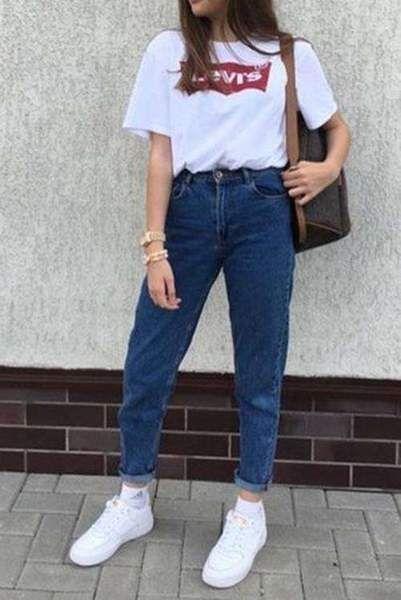 80 Retro Simple Mom Jeans Lupsona Ropa De Moda Moda De Ropa Ropa Ochentera