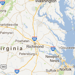 Virginia Zip Code Boundary Map VA Land Pinterest