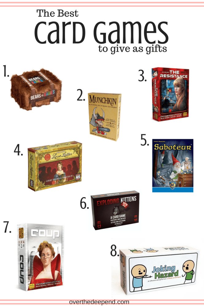 The Ultimate Card Game Gift Guide Not Sure What To Buy Your Brother In Law This Is The Answer Card Games For Fa Board Games Gift Fun Card Games Games To