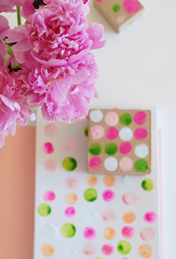 Peonies and watercolor boxes