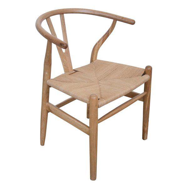 Replica Hans Wegner Oak Wood Wishbone Dining Chair by ...
